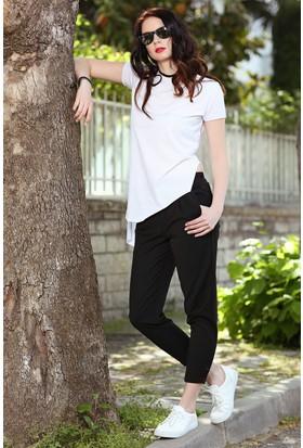 Womenice Beli Lastikli Pantolon