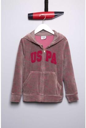 U.S. Polo Assn. Kız Çocuk Safan Sweatshirt Gri