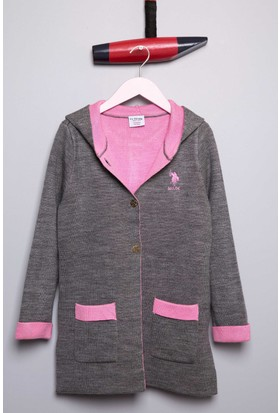 U.S. Polo Assn. Kız Çocuk Bonita Hırka Pembe