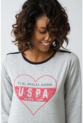 U.S. Polo Assn. Kadın 15939P Pijama Gri
