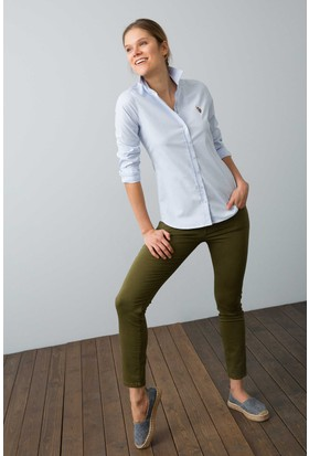 U.S. Polo Assn. Kadın Criscolor18Y Gömlek Mavi