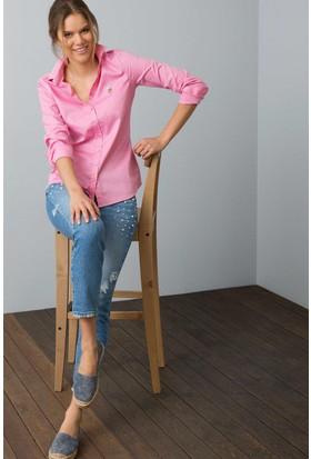 U.S. Polo Assn. Kadın Criscolor18Y Gömlek Fuşya