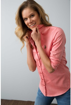 U.S. Polo Assn. Kadın Criscolor18Y Gömlek Kırmızı