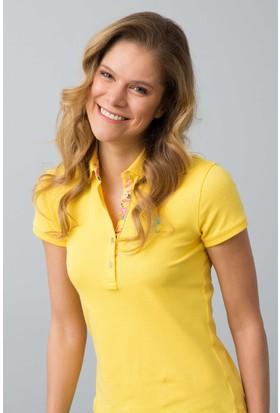 U.S. Polo Assn. Kadın Tp01İy08-011 T-Shirt Sarı