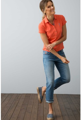 U.S. Polo Assn. Kadın Tp01İy08-011 T-Shirt Turuncu