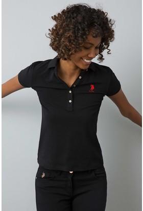 U.S. Polo Assn. Kadın Tp01İy08-011 T-Shirt Siyah