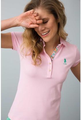 U.S. Polo Assn. Kadın Tp01İy08-011 T-Shirt Pembe