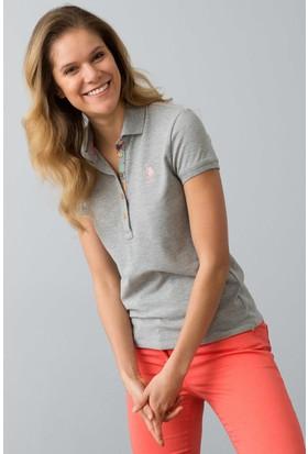 U.S. Polo Assn. Kadın Tp01İy08-011 T-Shirt Gri