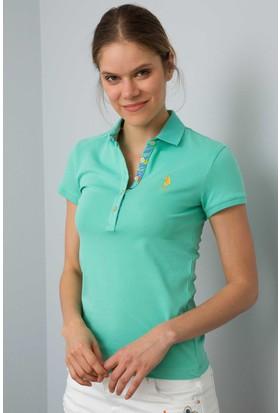 U.S. Polo Assn. Kadın Tp01İy08-011 T-Shirt Yeşil