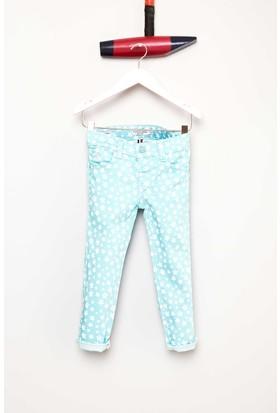 U.S. Polo Assn. Kız Çocuk Fancy7Y Pantolon Mavi