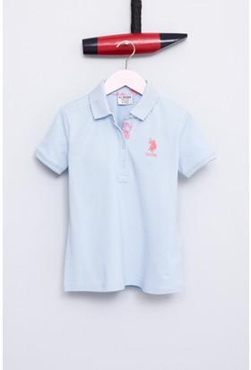 U.S. Polo Assn. Kız Çocuk Tp01İy07 T-Shirt Mavi