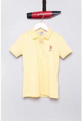 U.S. Polo Assn. Kız Çocuk Tp01İy07 T-Shirt Sarı