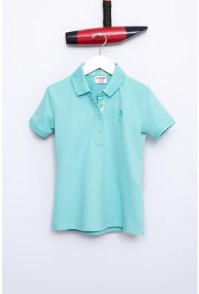 U.S. Polo Assn. Kız Çocuk Tp01İy07 T-Shirt Yeşil