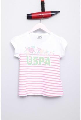 U.S. Polo Assn. Kız Çocuk Veronika T-Shirt Beyaz