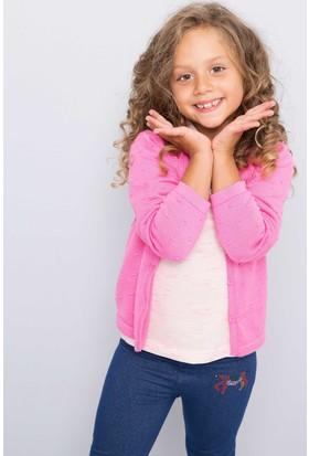 U.S. Polo Assn. Kız Çocuk Ren Hırka Pembe