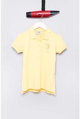 U.S. Polo Assn. Kız Çocuk Vatin T-Shirt Sarı