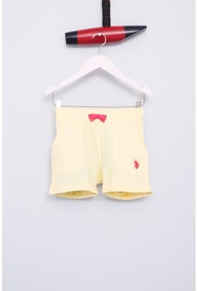 U.S. Polo Assn. Kız Çocuk Gold Şort Sarı