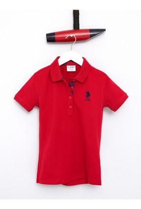 U.S. Polo Assn. Kız Çocuk Tp01İy07 T-Shirt Kırmızı
