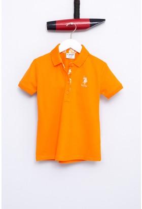 U.S. Polo Assn. Kız Çocuk Tp01İy07 T-Shirt Turuncu