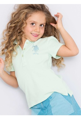 U.S. Polo Assn. Kız Çocuk Vatin T-Shirt Yeşil