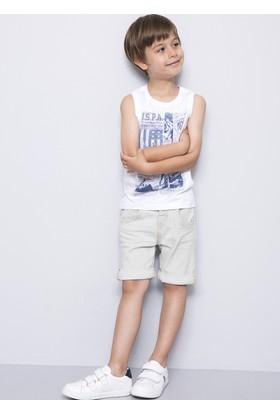 U.S. Polo Assn. Erkek Çocuk Cruz T-Shirt Beyaz