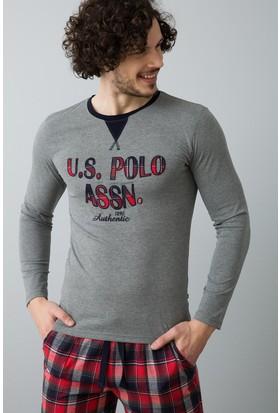U.S. Polo Assn. Erkek 17518 Pijama Gri