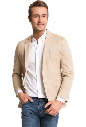 U.S. Polo Assn. Erkek Facon Ceket Beyaz