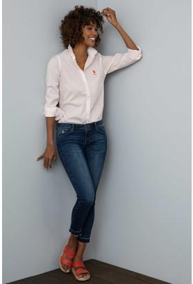 U.S. Polo Assn. Kadın Acuna Gömlek Kırmızı