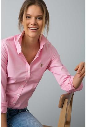 U.S. Polo Assn. Kadın Criscolor18Y Gömlek Pembe