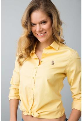 U.S. Polo Assn. Kadın Criscolor18Y Gömlek Sarı