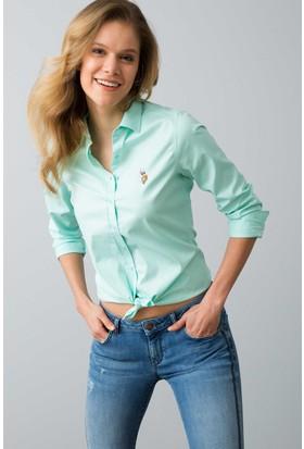 U.S. Polo Assn. Kadın Criscolor18Y Gömlek Yeşil