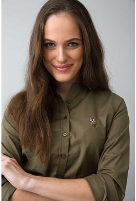 U.S. Polo Assn. Kadın Criscolor18Y Gömlek Haki