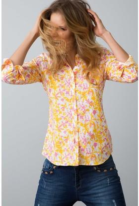 U.S. Polo Assn. Kadın Gömlek Sarı