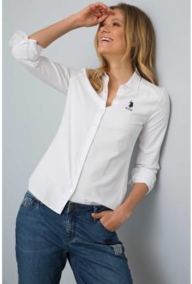 U.S. Polo Assn. Kadın Wox18Y Gömlek Beyaz