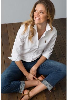 U.S. Polo Assn. Kadın Woxcolor18Y Gömlek Beyaz