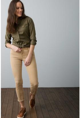 U.S. Polo Assn. Kadın Liz8Y Pantolon Beyaz