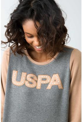U.S. Polo Assn. Kadın Sweat Shirt Kahverengi