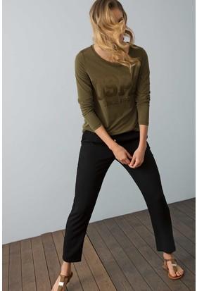 U.S. Polo Assn. Kadın Nerve Sweatshirt Yeşil
