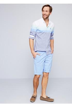 U.S. Polo Assn. Erkek Daniel7Y Şort Mavi