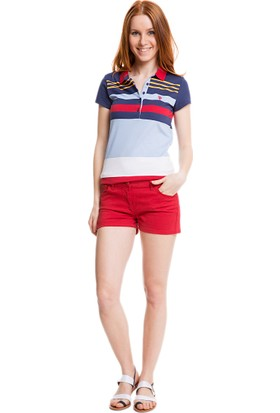 U.S. Polo Assn. Kadın Kyla5Y Şort Kırmızı