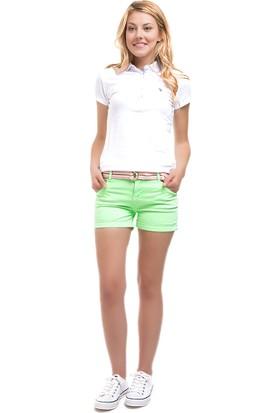 U.S. Polo Assn. Kadın Yikamali Şort Yeşil