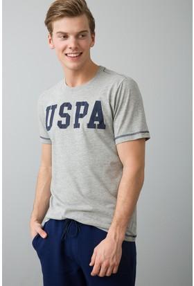 U.S. Polo Assn. Erkek Geartiy8 T-Shirt Gri