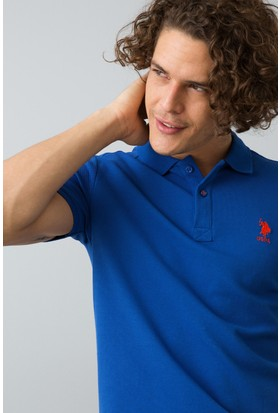U.S. Polo Assn. Erkek Tp04İy8 T-Shirt Mavi
