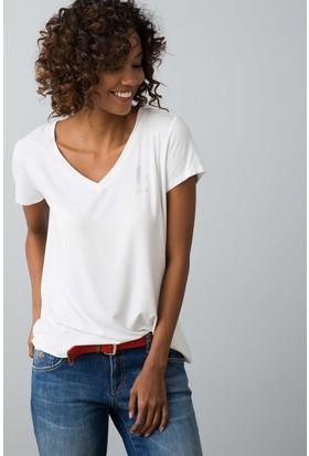 U.S. Polo Assn. Kadın Ciyosel-Iy08 T-Shirt Beyaz