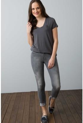 U.S. Polo Assn. Kadın Ciyosel-Iy08 T-Shirt Gri