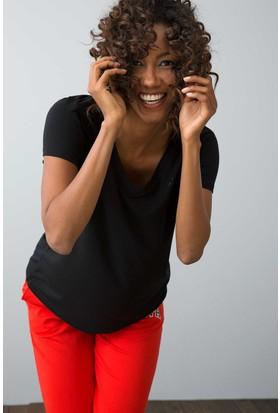 U.S. Polo Assn. Kadın Ciyosel-Iy08 T-Shirt Siyah