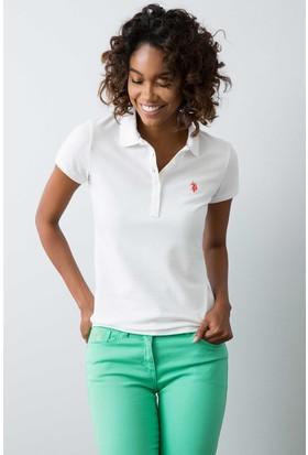 U.S. Polo Assn. Kadın Gtp-Iy08 T-Shirt Beyaz