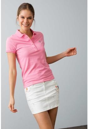 U.S. Polo Assn. Kadın Gtp-Iy08 T-Shirt Pembe