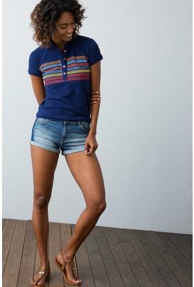U.S. Polo Assn. Kadın Nation T-Shirt Lacivert