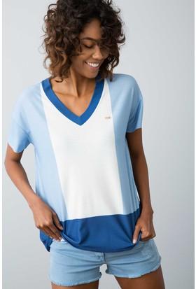 U.S. Polo Assn. Kadın Nicki T-Shirt Mavi